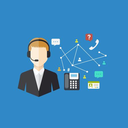 jobs people: Office Worker concept, Vector illustration