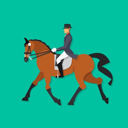 equestrian sport: Dressage horse and rider, Equestrian sport