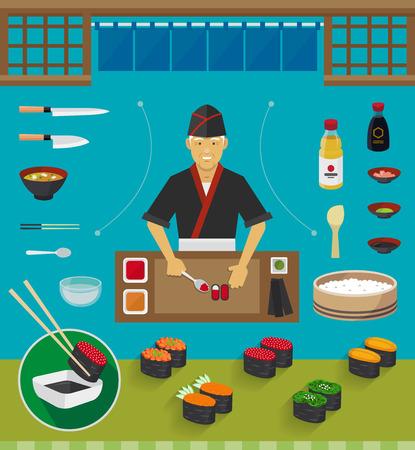 sushi roll: Sushi Chef and Cookware Sets Gunkan Maki Sushi