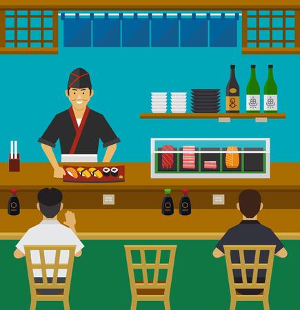 japanese sake: Sushi Bar Restaurante japonés