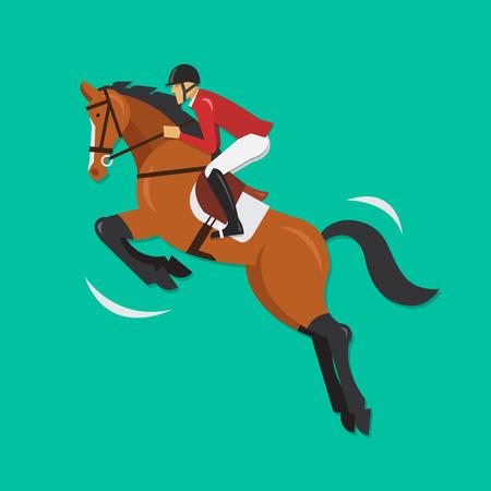 equestrian sport: Show Jumping Horse with jockey Equestrian sport
