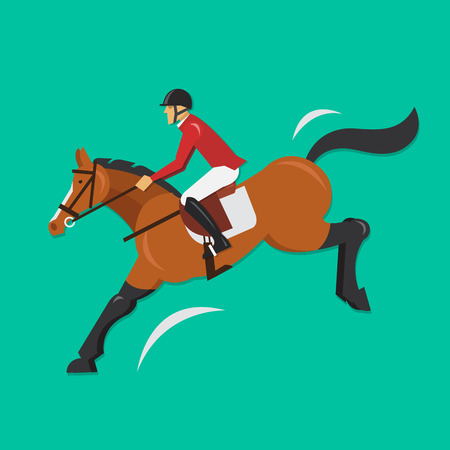 show jumping: Show Jumping Horse with jockey Equestrian sport