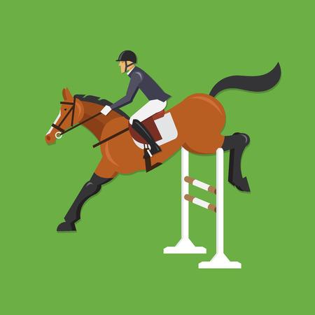 jumping fence: El caballo que salta sobre la cerca Deporte ecuestre