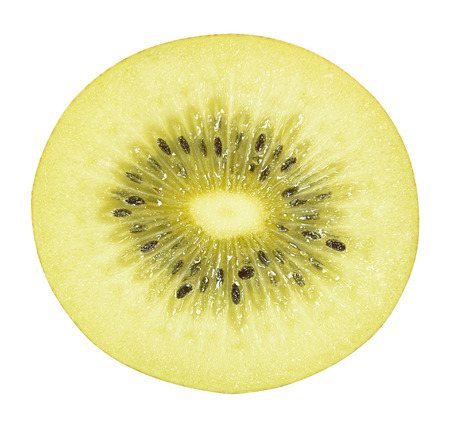golden kiwi fruit isolated on white with clipping path
