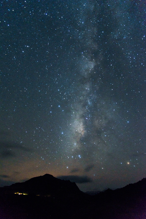 Clearly milky way over the mountain