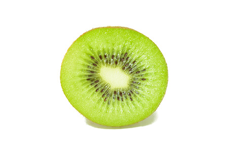 kiwi fruit isolated on white, green kiwi fruit, kiwi fruit sliced, seed of kiwi fruit Stok Fotoğraf