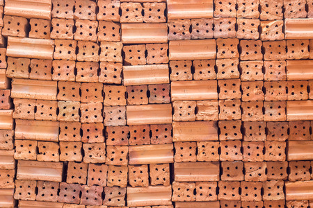 Red Bricks  For Building Construction Stok Fotoğraf - 71442034