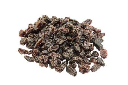 calorific: raisins isolated on white background