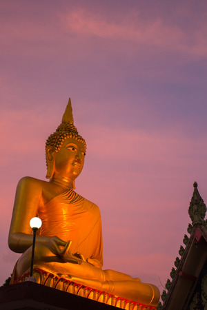peaceably: This photo are Image of Buddha taken Thai temple  Stock Photo