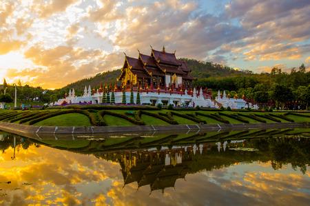 the royal park: This are photo is Royal park Rajapruek in Chiangmai Thailand. Stock Photo