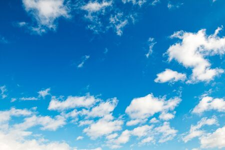 Cloudy blue sky as abstract background; nice sky with tiny clouds