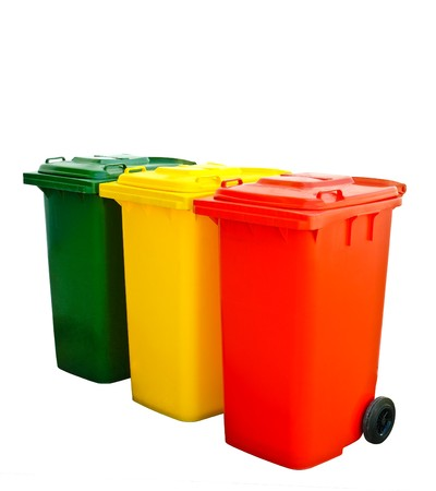 Colorful Recycle Bin Isolated photo