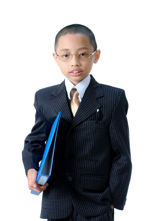 A young asian businessman isolated  photo