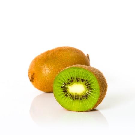 Fresh of kivi fruit isolated on white background photo