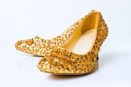 fashion woman shoe over white background photo