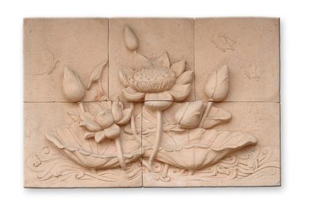 bas relief: Bas-relief de style tha�landais ciment artisanat du bouddhisme
