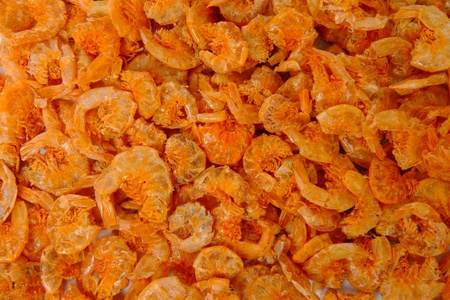 Dried shrimp food texture background Stock Photo - 11065776