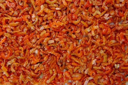 Dried shrimp food texture background photo