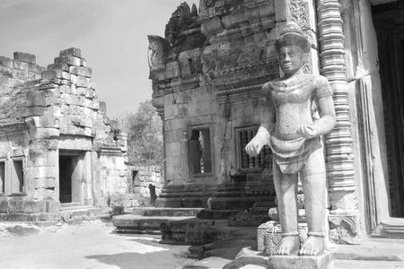 Phanom Roonk ancient castle, historical park ,at Buriram province Thailand. Stock Photo - 11409257