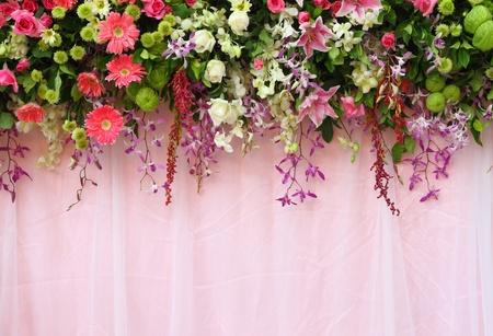 Exotic flowers arrangement over pink fabric flowers background exotic flowers arrangement over pink fabric flowers background stock photo 11409227 mightylinksfo
