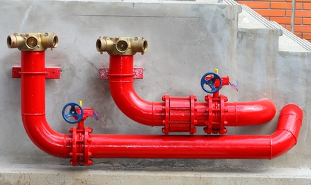 fire protection: Fire Hydrants On The Wall