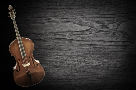 Old violin on wood texture ,vintage  background   photo