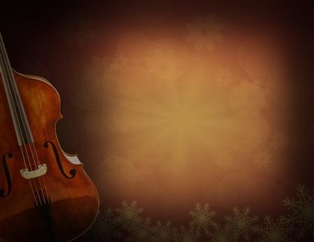 Old violin on vintage background Stock Photo - 12806430