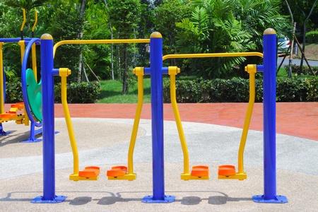 public health: Exercise equipment in public park