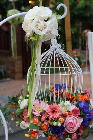 Beautiful bouquet of flowers ready for wedding photo
