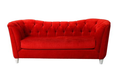 A red furniture isolated with clipping path  photo