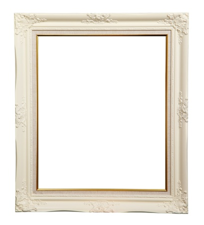White frame over white background  Stock Photo