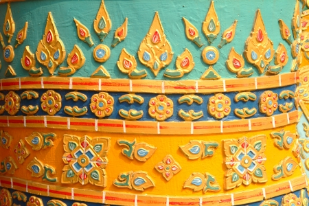 stucco: Close up of stucco in the temple , traditional of Thai art Stock Photo