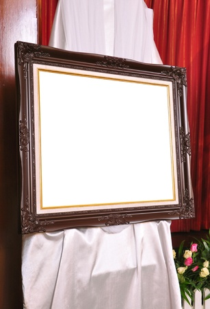 Brown louise photo frame with white space photo