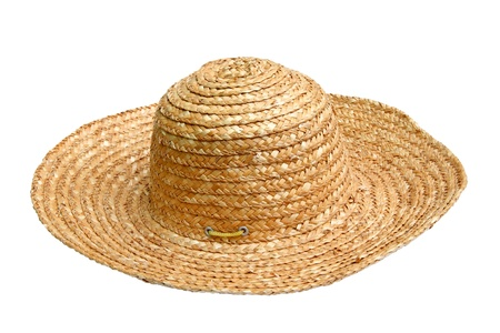 straw hat isolated over white background