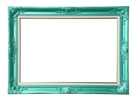 louise: Copper-green vintage photo frame,