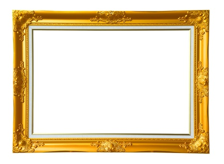 louise: Gold vintage photo frame, clipping path