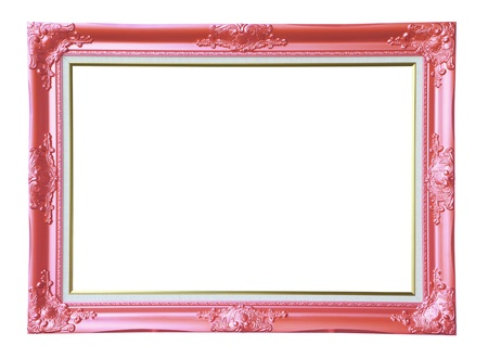 Copper-pink vintage photo frame,