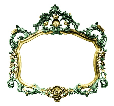 Vintage picture frame over white background , clipping path Stock Photo - 18510985