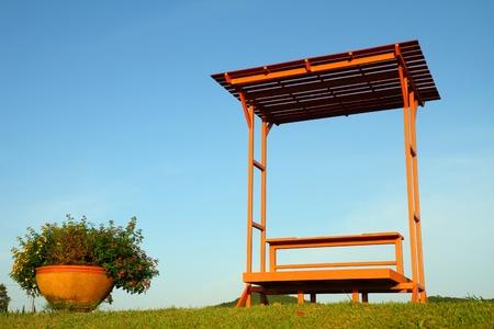 pavilion: Pavilion in the tropical garden Stock Photo