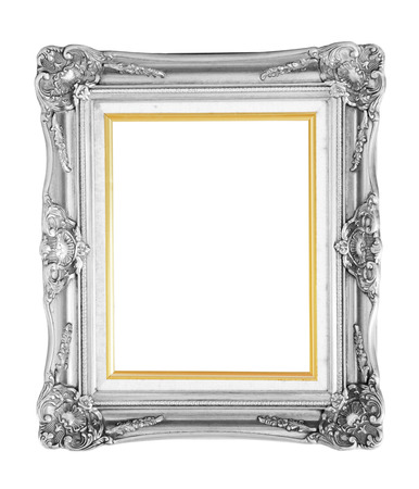 Bronze photo frame over white background photo