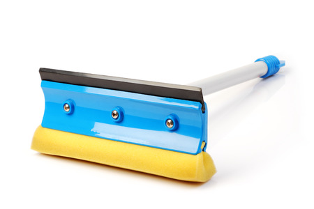 Windshield cleaning tool on white background