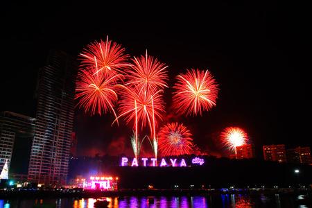 pattaya: PATTAYA, THAILAND - Countdown 2015 , January 1, 2015 in Balihy foreland , South Pattaya, Pattaya City Chonburi, Thailand.