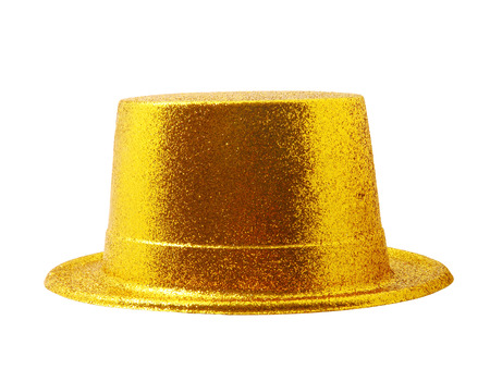 party hat: Yellow party hat isolated on the white background, clipping path.