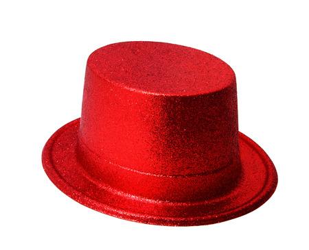 Sombrero de fiesta rojo aislado en el fondo blanco, camino de recortes. Foto de archivo - 44033551