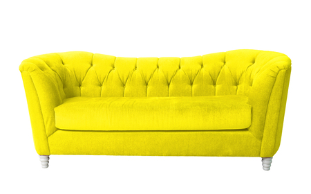 A yellow furniture isolated on white with clipping path Stock Photo