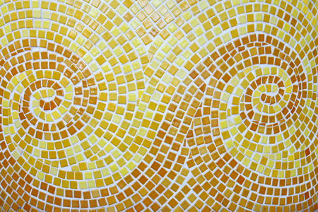 Yellow and brown mosaic arts backgrounds