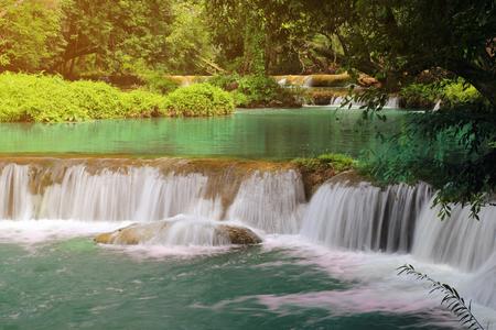 Chet Sao Noi waterfall in the rain forest, at Namtok Chet Sao Noi National Park Saraburi provinces Thailand.