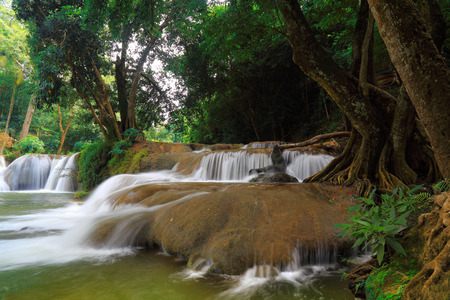 namtok: Chet Sao Noi waterfall in the rain forest, at Namtok Chet Sao Noi National Park Saraburi provinces Thailand.