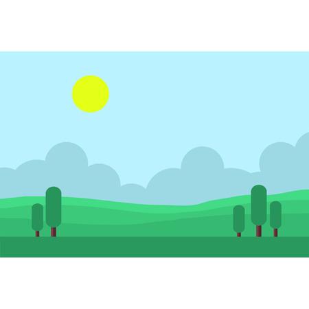 Game backgrounds landscape at morning