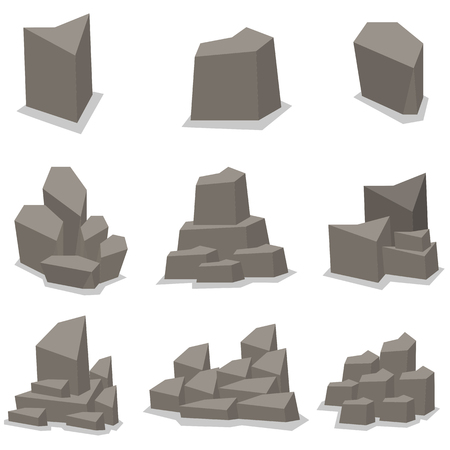 cobble: Illustration of stone set collection stock